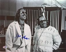 LEGEND!!! Stevie Wonder Signed CLASSIC 11x14 Photo #2 PSA/DNA LOA Quincy Jones