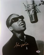LEGEND!!! Stevie Wonder Signed CLASSIC Young 11x14 Photo #1 PSA/DNA LOA