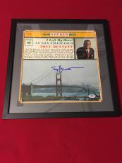 Legend TONY BENNETT I left my heart in san francisco signed PSA/DNA framed LP 1