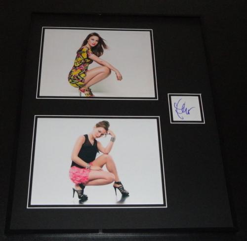 Leighton Meester Signed Framed 16x20 Photo Set Gossip Girl