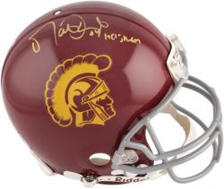 Matt Leinart USC Trojans Autographed Riddell Pro-Line Authentic Helmet with 04 Heisman Inscription - Mounted Memories