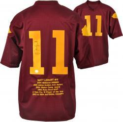 Matt Leinart USC Trojans Autographed Embroidered Stats Jersey