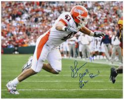 "J Leman Illinois Fighting Illini Autographed 16"" x 20"" Photograph - Mounted Memories"