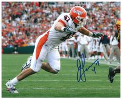"J Leman Illinois Fighting Illini Autographed 8"" x 10"" Photograph - Mounted Memories"