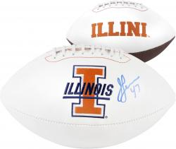 Jeremy Leman Autographed Football - J Team Logo Mounted Memories