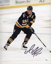 LEMIEUX, MARIO AUTO (PENGUINS/BLACK JERSEY/BLACK INK) 8x10 - Mounted Memories