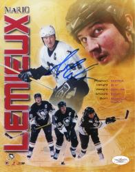 LEMIEUX, MARIO AUTO (PENGUINS/MULTI PHOTO) 8X10 PHOTO - Mounted Memories