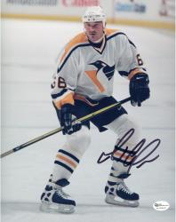 LEMIEUX, MARIO AUTO (PENGUINS/WHITE JERSEY/STILL) 8X10 PHOTO - Mounted Memories