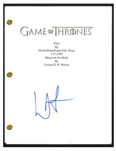 Lena Headey Signed Autograph GAME OF THRONES Pilot Episode Script Screenplay COA