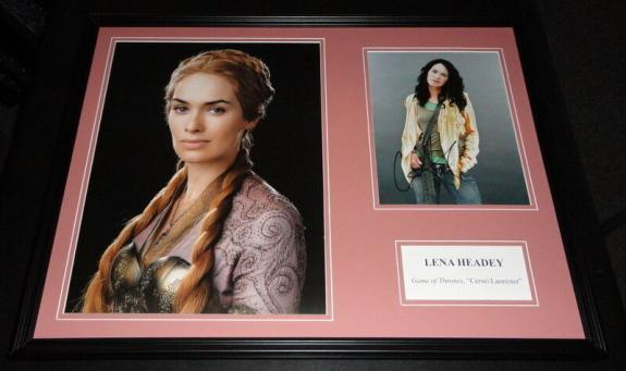 Lena Headey Signed Framed 18x24 Photo Display AW Game of Thrones