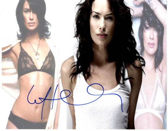 Lena Headey Sexy Lingerie Bra Game of Thrones Signed 11x14 Photo AFTAL UACC RD