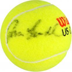 Ivan Lendl Autographed US Open Logo Tennis Ball