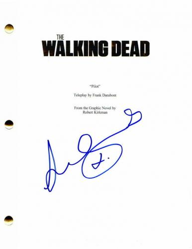 Lennie James Signed Autograph - The Walking Dead Pilot Script - Norman Reedus