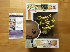 Lennie James Signed The Walking Dead Pop Funko Morgan JSA Coa Inscribed