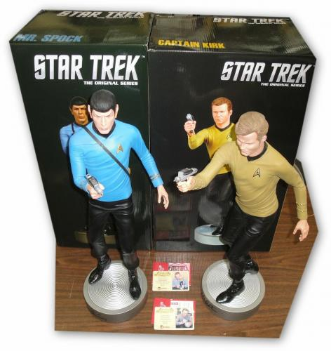Lenoard Nimoy - William Shatner Star Trek Spock Captain Kirk Signed 1/4 Scale