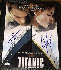 Leo Dicaprio & James Cameron & Celine Dion Signed Titanic 11x14 Photo Jsa Y50592