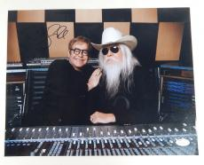 Leon Russell Signed 11 x 14 Photo Pose #1 With Elton John JSA Auto