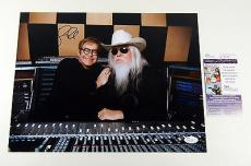 Leon Russell Signed 11x14 Photo Pose #1 with Elton John JSA Auto