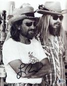 Leon Russell Signed Autographed 8x10 Photo with Willie Nelson Beckett BAS COA