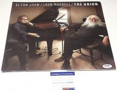 "Leon Russell ""the Union"" Elton John Signed Record Album Lp Psa/dna T59201"
