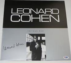 LEONARD COHEN Signed Autographed I'M YOUR MAN ALBUM LP PSA DNA OLD IDEAS Tour