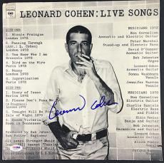Leonard Cohen Signed Autographed Live Songs Album PSA/DNA