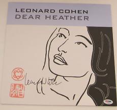 LEONARD COHEN Signed DEAR HEATHER ALBUM LP PSA DNA OLD IDEAS Tour