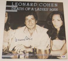 LEONARD COHEN Signed DEATH OF A LADIES MAN ALBUM LP w/ PSA DNA Coa