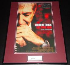 Leonard Cohen Signed Framed 16x20 Poster Photo Display