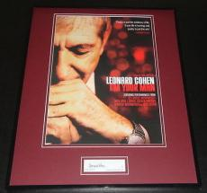 Leonard Cohen Signed Framed 16x20 Poster Photo Display JSA