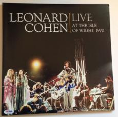 LEONARD COHEN Signed Live At the Isle Of Wight ALBUM LP w/ PSA DNA