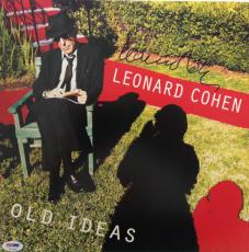 LEONARD COHEN Signed OLD IDEAS ALBUM LP w/ PSA DNA Coa