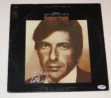 LEONARD COHEN Signed THE BEST OF Leonard Cohen ALBUM LP w/ PSA DNA Coa