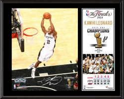 "Kawhi Leonard San Antonio Spurs 2014 NBA Finals Champions Sublimated 12"" x 15"" Plaque"