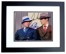 Leonard Nimoy and William Shatner Autographed  STAR TREK 8x10 Photo BLACK CUSTOM FRAME - Mr. Spock and Captain Kirk