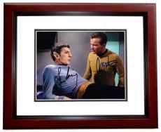 Leonard Nimoy and William Shatner Autographed STAR TREK 8x10 Photo MAHOGANY CUSTOM FRAME - Mr. Spock and Captain Kirk