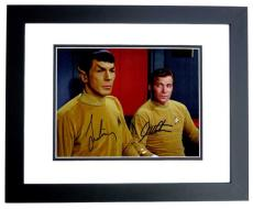 Leonard Nimoy and William Shatner Signed - Autographed STAR TREK 8x10 inch Photo - BLACK CUSTOM FRAME - Guaranteed to pass PSA/DNA or JSA - Mr. Spock and Captain Kirk