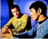 Leonard Nimoy and William Shatner Signed - Autographed STAR TREK 8x10 inch Photo - Guaranteed to pass PSA or JSA - Mr. Spock and Captain Kirk