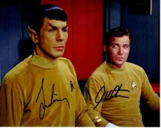 Leonard Nimoy and William Shatner Signed - Autographed STAR TREK 8x10 inch Photo - Guaranteed to pass PSA/DNA or JSA - Mr. Spock and Captain Kirk