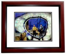 Leonard Nimoy and William Shatner Signed - Autographed STAR TREK 8x10 inch Photo - MAHOGANY CUSTOM FRAME - Guaranteed to pass PSA or JSA - Mr. Spock and Captain Kirk