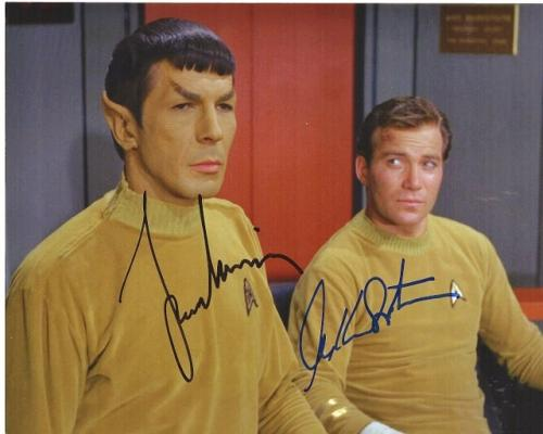 Leonard Nimoy and William Shatner Signed - Autographed STAR TREK 8x10 inch Photo - Mr. Spock and Captain Kirk - Guaranteed to pass BAS