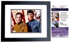 Leonard Nimoy and William Shatner Signed - Autographed STAR TREK 8x10 Photo - BLACK CUSTOM FRAME - Mr. Spock and Captain Kirk - JSA Certificate of Authenticity