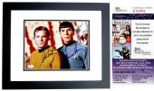 Leonard Nimoy and William Shatner Signed - Autographed STAR TREK 8x10 inch Photo - BLACK CUSTOM FRAME - Mr. Spock and Captain Kirk - JSA Certificate of Authenticity