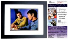 Leonard Nimoy and William Shatner Signed - Autographed STAR TREK 8x10 Photo - BLACK CUSTOM FRAME - Mr. Spock and Captain Kirk - JSA Certificate of Authenticity