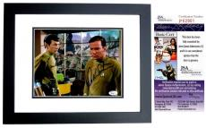 Leonard Nimoy and William Shatner Signed - Autographed STAR TREK 8x10 inch Photo - BLACK CUSTOM FRAME - Guaranteed to pass PSA or JSA - Mr. Spock and Captain Kirk - JSA Certificate of Authenticity