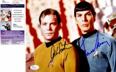 Leonard Nimoy and William Shatner Signed - Autographed STAR TREK 8x10 inch Photo - Mr. Spock and Captain Kirk - JSA Certificate of Authenticity