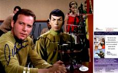 Leonard Nimoy and William Shatner Signed - Autographed STAR TREK 8x10 Photo - Mr. Spock and Captain Kirk - JSA Certificate of Authenticity