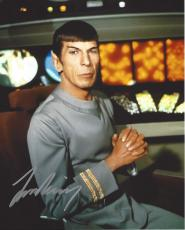 "LEONARD NIMOY as SPOCK in ""STAR TREK"" Signed 8x10 Color Photo"