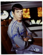 "Leonard Nimoy Autographed 8""x 10"" Star Trek Spoke Arms Folded Photograph - Beckett COA"