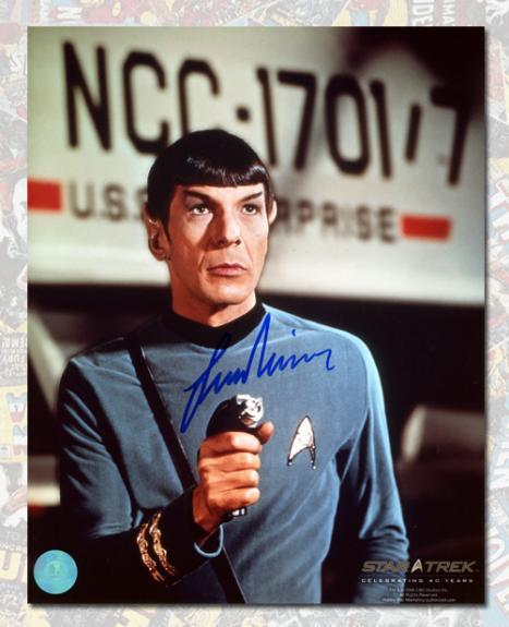 Leonard Nimoy Autographed Commander Spock Star Trek 8x10 Photo